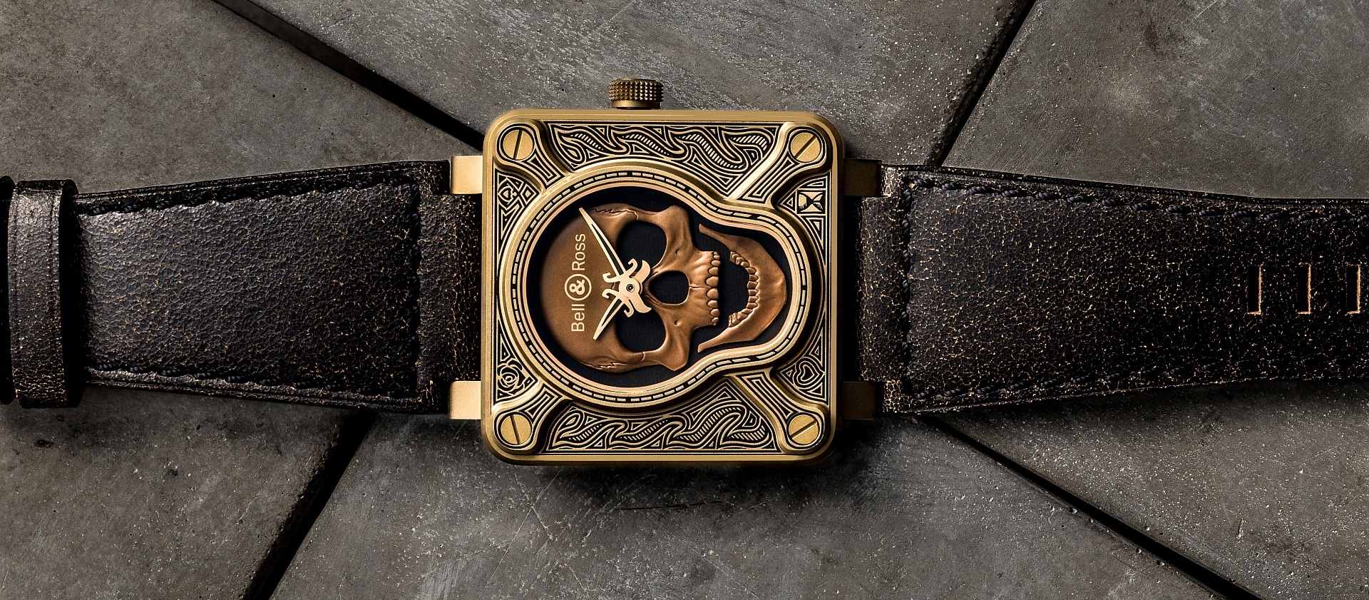 BELL & ROSS BR01 Burning Skull Bronze中港台獨家發售限量版
