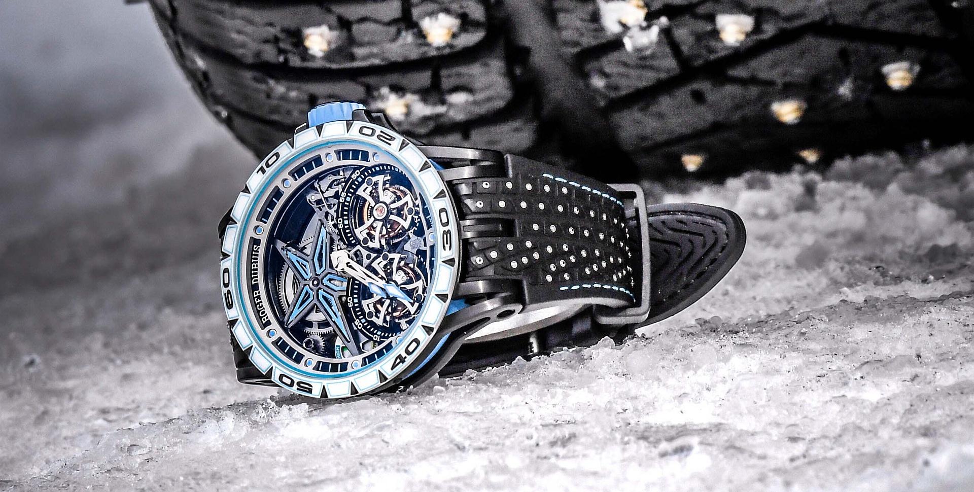 登峰造極,創奇世界:Roger Dubuis羅杰杜彼Excalibur Spider系列Pirelli Sottozero™腕錶