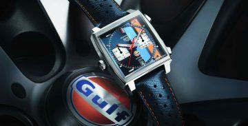 TAG Heuer泰格豪雅與Gulf海灣石油攜手打造Monaco Gulf特別版腕錶