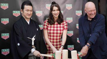 全球超模Bella Hadid為TAG Heuer日本銀座全新專賣店揭幕