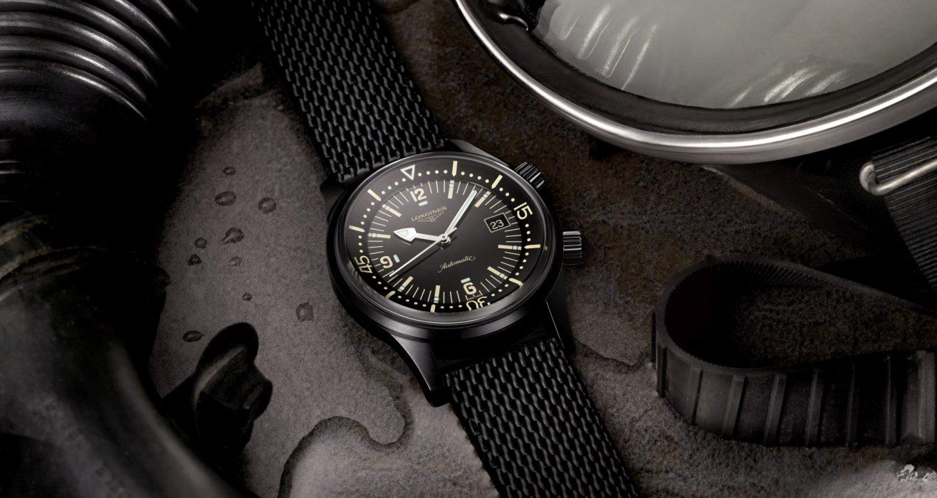 【Baselworld 2018錶展報導】以黑色詮釋簡約優雅:Longines浪琴表Legend Diver復刻潛水腕錶