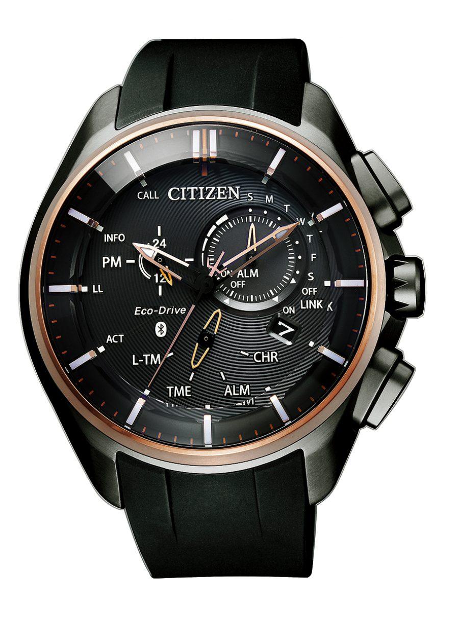光動能藍牙男錶W770,型號BZ1046-11E,參考售價約NTD28,800。