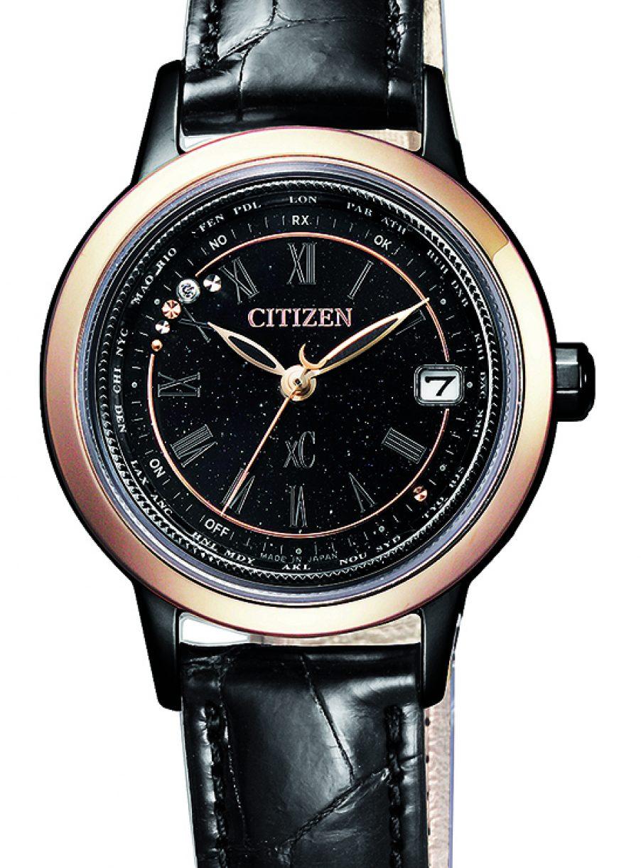 光動能電波對時女錶,型號EC1144-26E,參考售價約NTD29,800。
