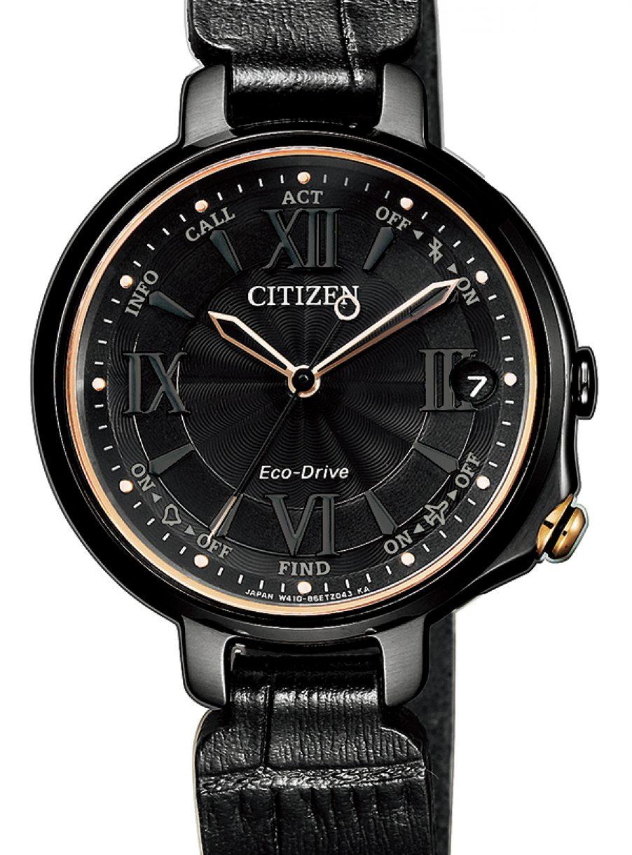 光動能藍牙女錶W410,型號EE4045-11E,參考售價約NTD19,800。