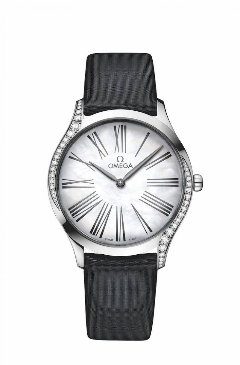 碟飛系列TRÉSOR腕錶不鏽鋼鑲鑽錶款,錶徑36毫米,參考售價NTD162,500。