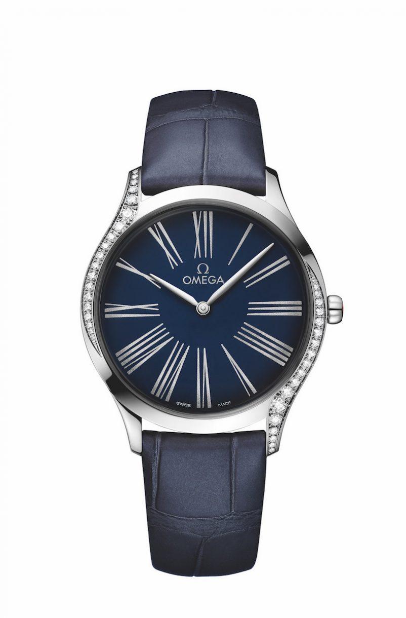 碟飛系列TRÉSOR腕錶不鏽鋼鑲鑽錶款,錶徑36毫米,參考售價NTD144,900。