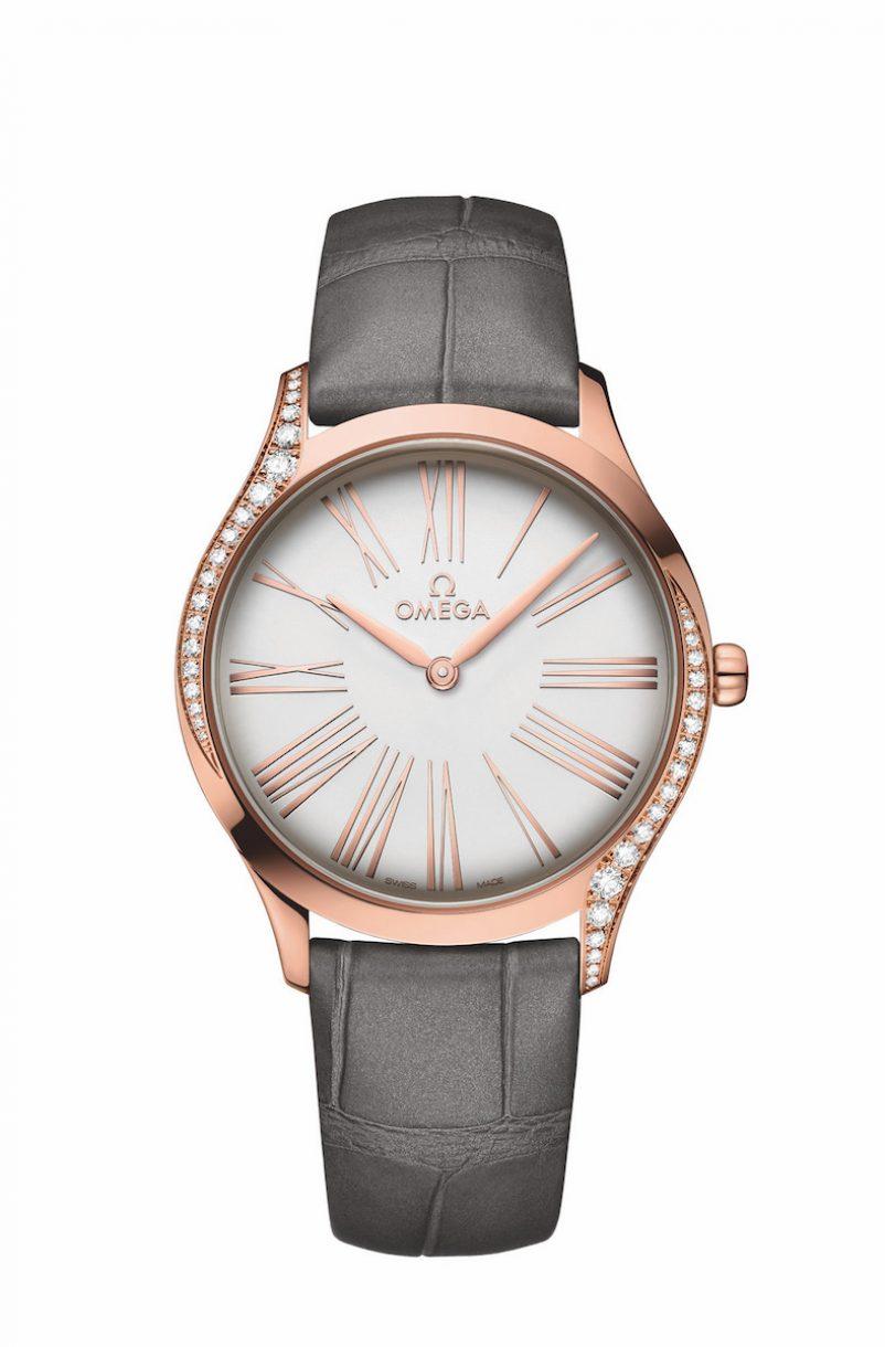 碟飛系列TRÉSOR腕錶18K Sedna™金鑲鑽錶款,錶徑36毫米,參考售價NTD282,700。