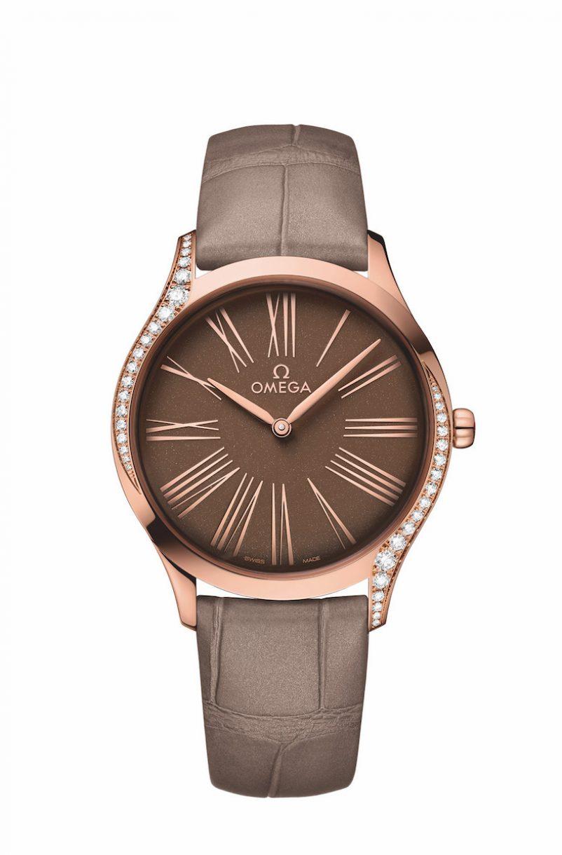 碟飛系列TRÉSOR腕錶 18K Sedna™金鑲鑽錶款,錶徑36毫米,參考售價NTD282,700。