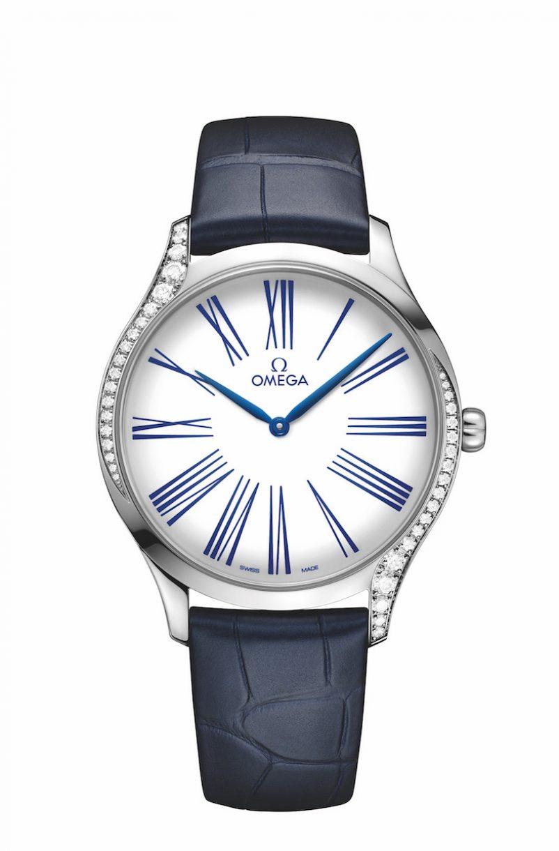 碟飛系列TRÉSOR腕錶不鏽鋼鑲鑽錶款,錶徑39毫米,參考售價NTD166,100。