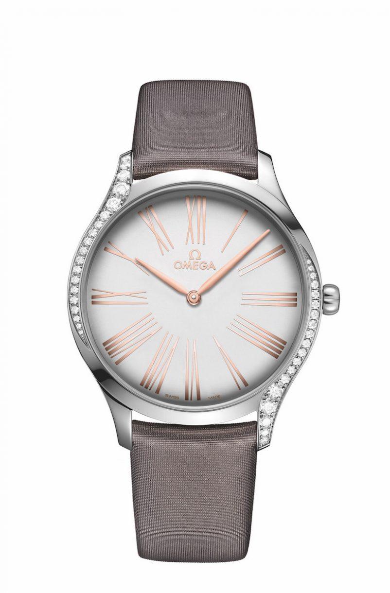 碟飛系列TRÉSOR腕錶18K Sedna™金時針鑲鑽錶款,錶徑39毫米,參考售價NTD183,700。