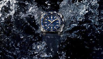 自成一格的Bell & Ross柏萊士BR03-92 Diver Blue方形潛水腕錶