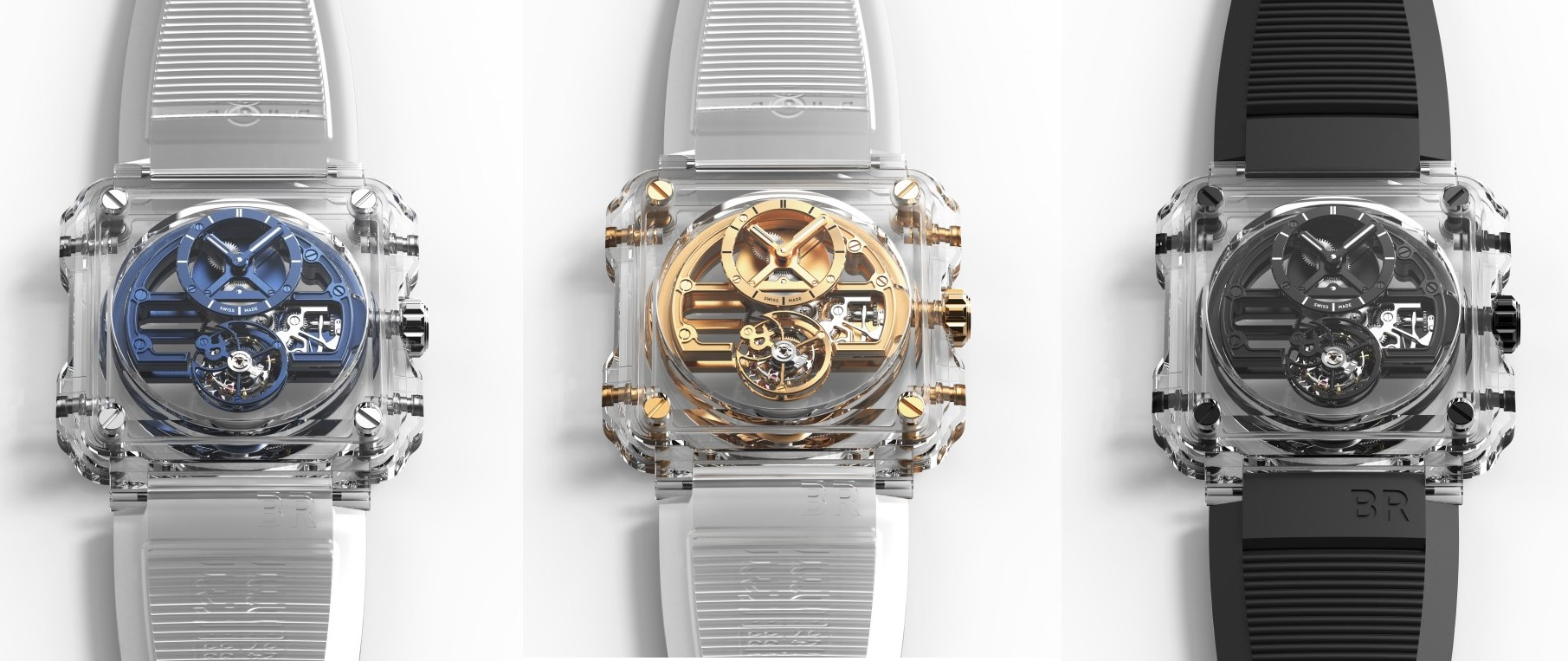 極致透明的獨一無二珍品: Bell & Ross BR-X1 Skeleton Tourbillon Sapphire
