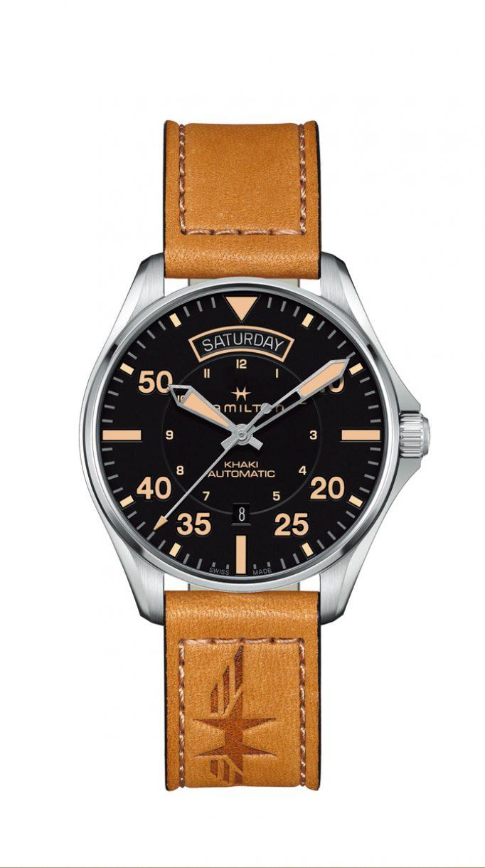 Khaki Pilot Day Date 雙曆腕錶
