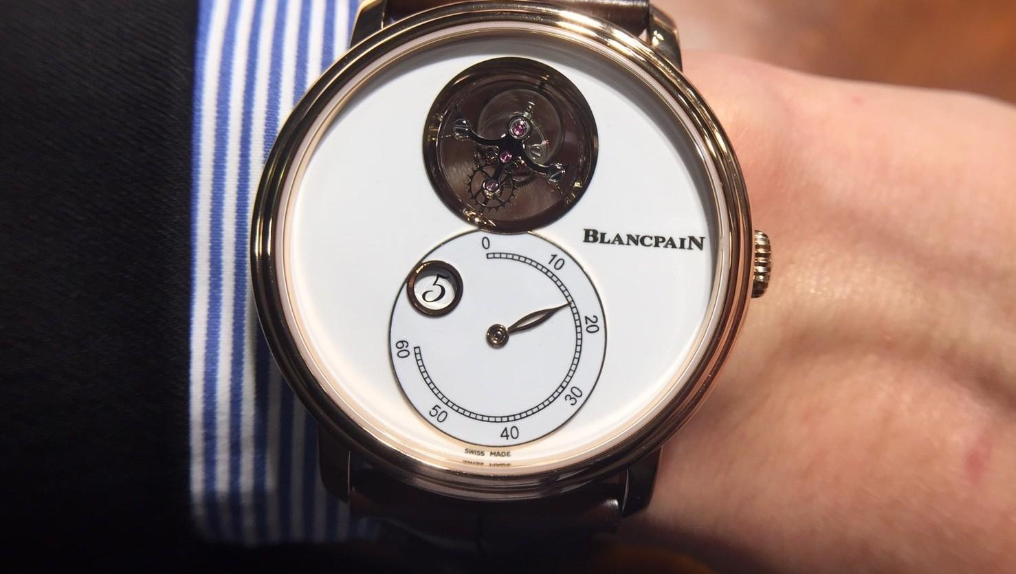 無三不成禮,Blancpain Villeret飛行陀飛輪跳時逆跳分鐘腕錶匯聚三項頂級複雜功能