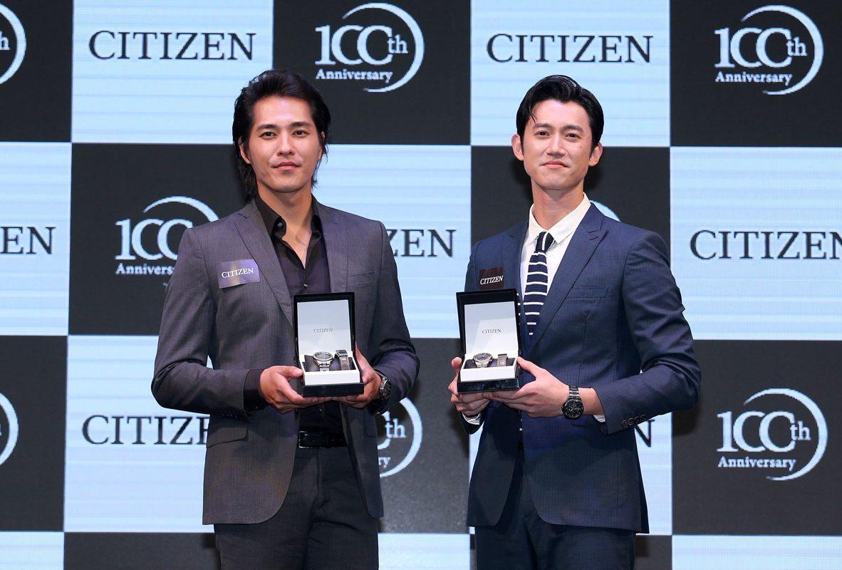 CITIZEN贈送光動能全球電波時計錶款AT9091-51H與AT8160-55H予代言人