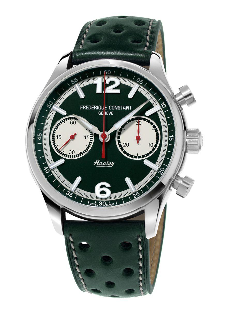 Vintage Rally Healey 計時碼錶綠面款,參考售價CHF 2,595。