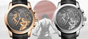 智與勇的武士對決: 雅典錶《武士活動人偶單問報時錶》