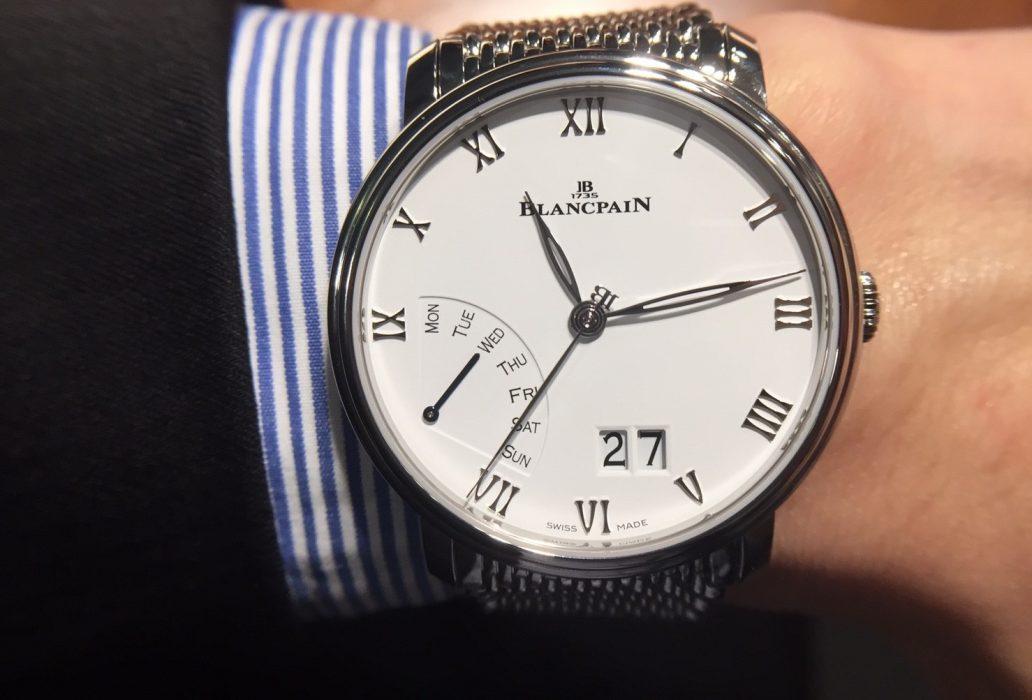 稀罕的顯示功能新組合:Blancpain Villeret大日期逆跳星期腕錶