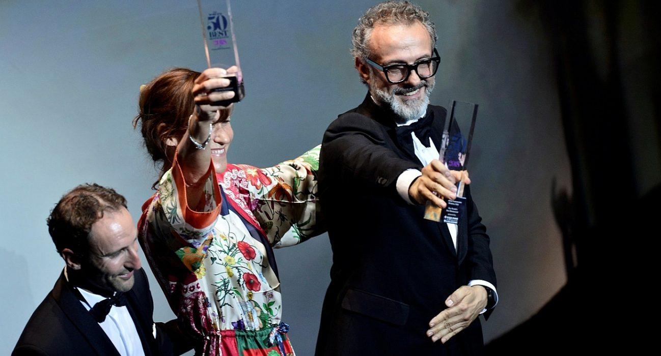 世界名廚Massimo Bottura再度於全球最佳50間餐廳榮居首位,佩戴沛納海腕錶出席頒獎典禮