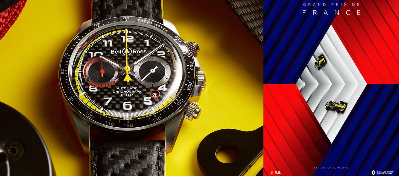 慶祝賽車盛事重返法蘭西:Bell & Ross推出BR V2-94 R.S.18計時碼錶