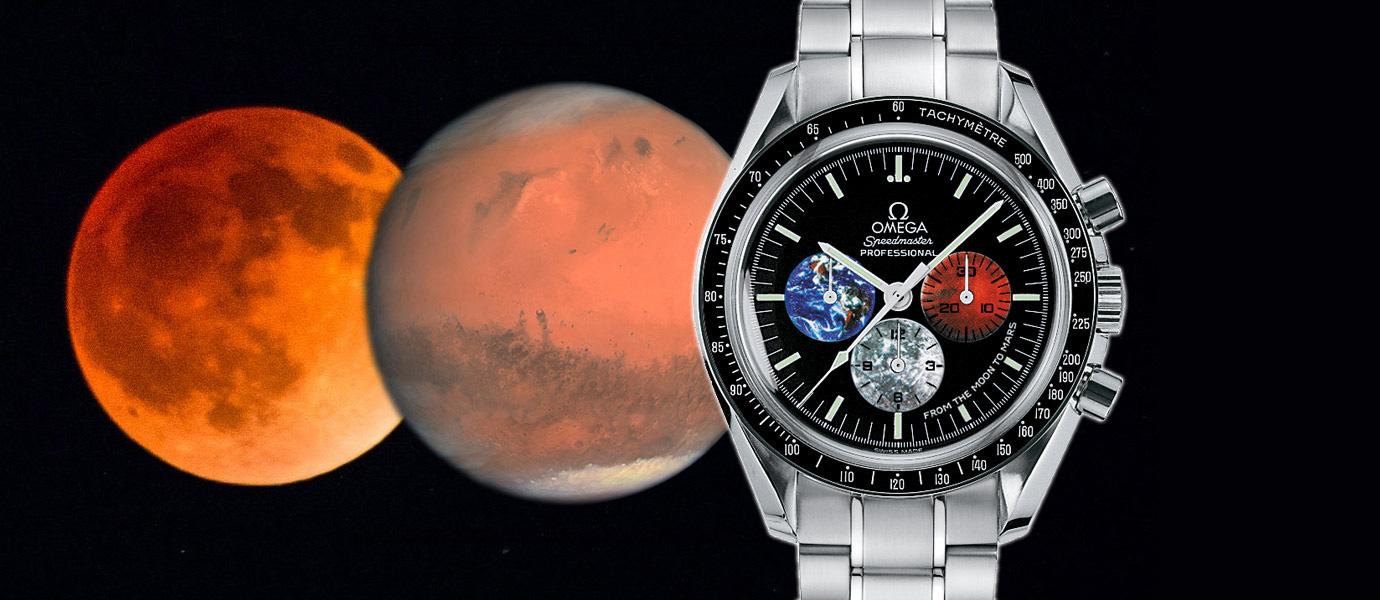 最長血月與最大火星同框:拿出Omega見證吧!