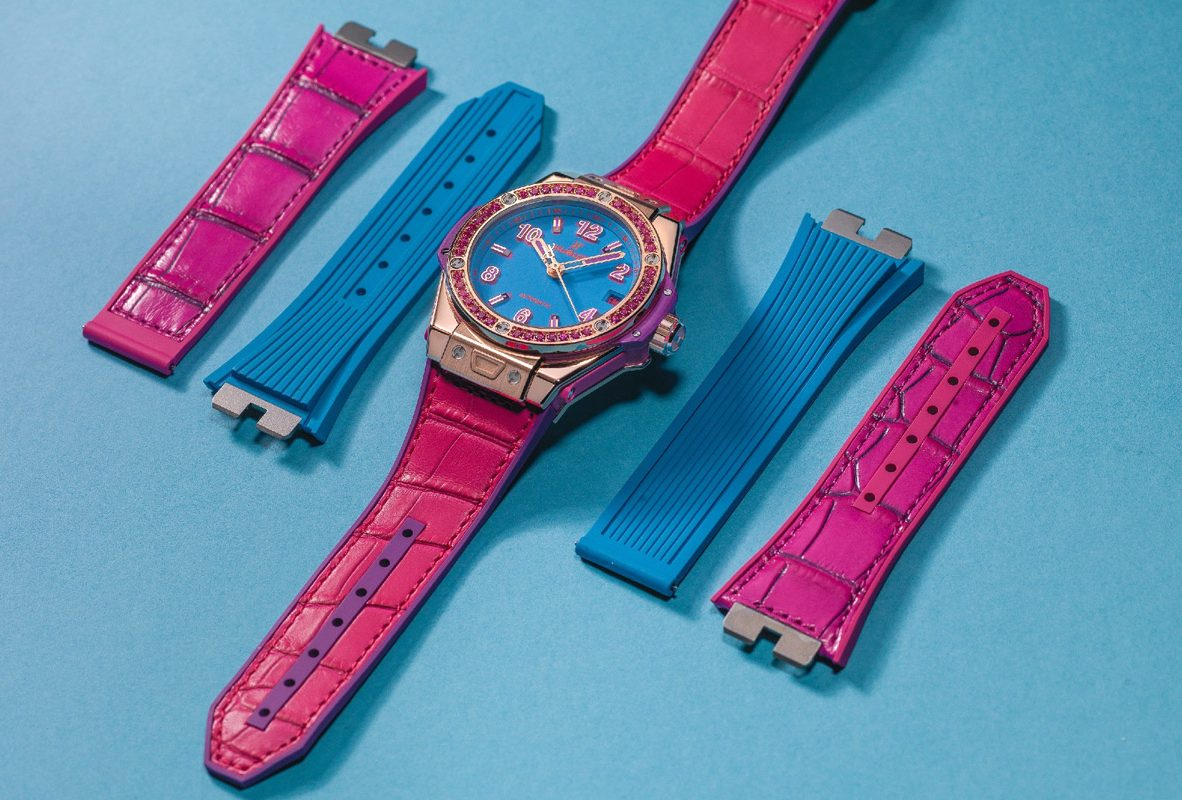 Hublot Big Bang One Click Pop Art 採用快拆錶帶