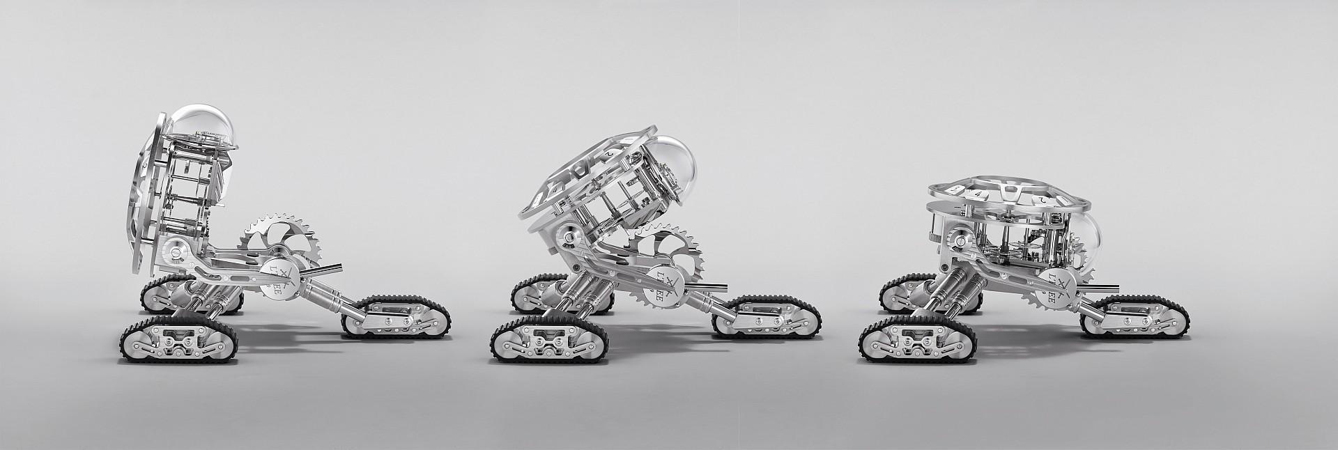 扭轉時間:MB&F + L'Epée 1839聯手推出 Grant三履帶機器人座鐘