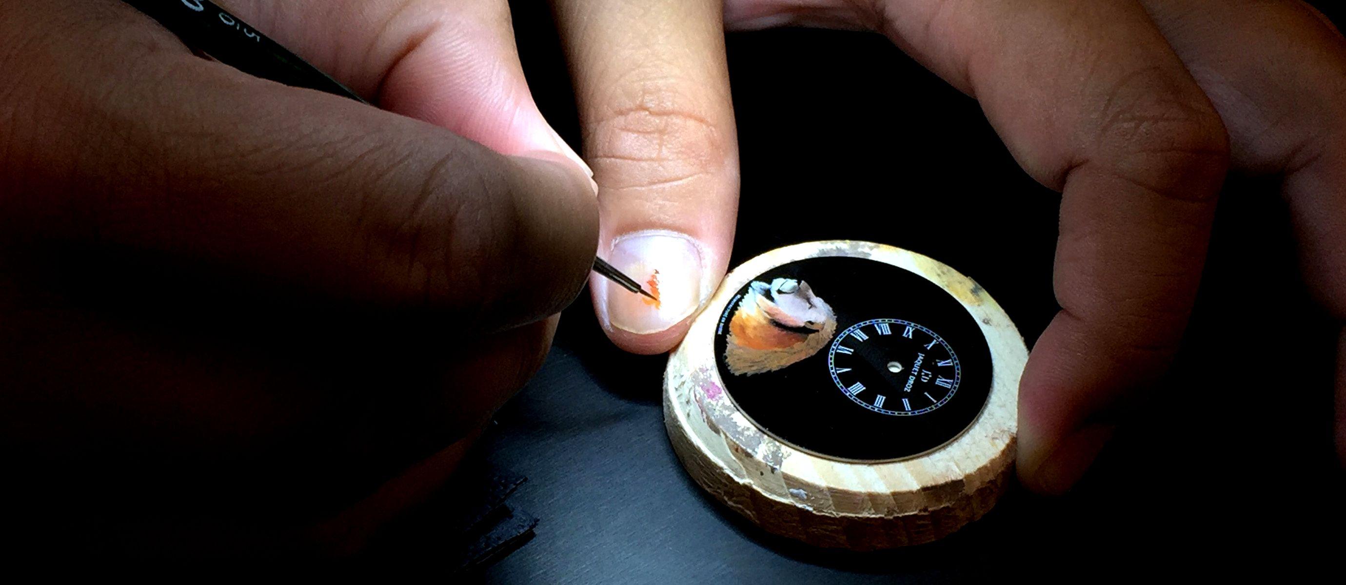 畫出神韻的色彩:Jaquet Droz微型彩繪腕錶