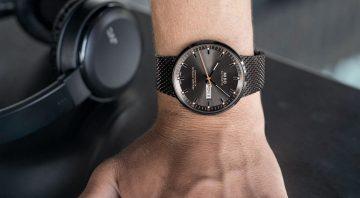 黑橘相襯:Mido Commander Icône香榭系列經典復刻矽游絲腕錶