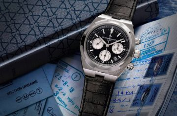 江詩丹頓2018年式全新Overseas「熊貓式」黑色錶盤計時碼錶轟動抵台