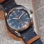 換上牛仔新衣:Omega Railmaster Denim腕錶