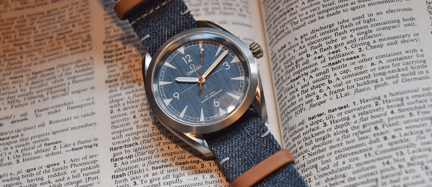 換上牛仔新衣:Omega Railmaster Denim腕錶