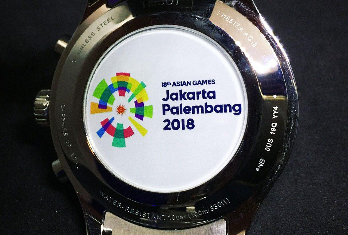 Chrono XL亞運特別版錶背鐫刻雅加達巨港亞洲運動會官方Logo標誌。
