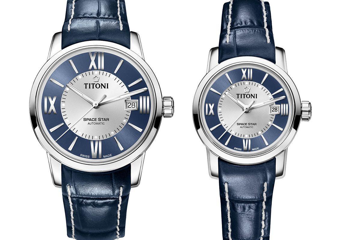《Space Star天星系列》藍銀相間錶盤搭配藍皮帶款,參考售價NTD 35,300(40毫米)/NTD 30,600(28毫米)