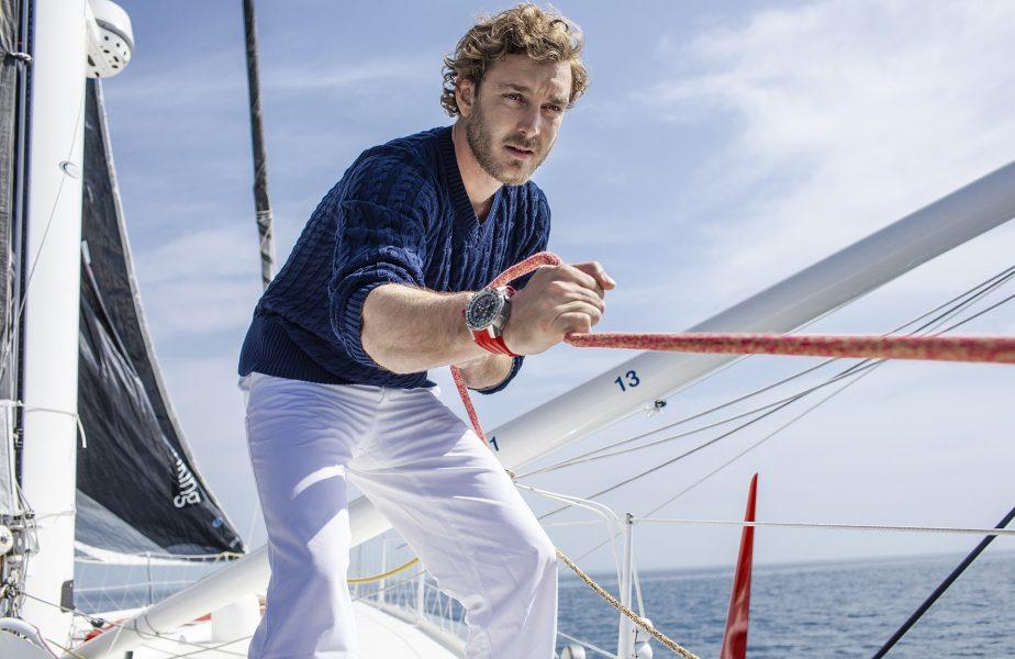 在RICHARD MILLE飄揚的風帆下遠航:第一位航海家品牌摯友皮埃爾.卡西拉奇PIERRE CASIRAGHI佩戴RM 60-01 Regatta飛返計時碼錶