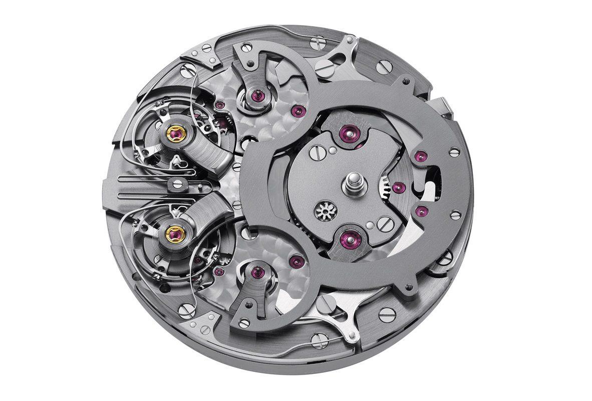 ARF15手動上鍊機芯,由兩個獨立的鏡像對稱調速器驅動。