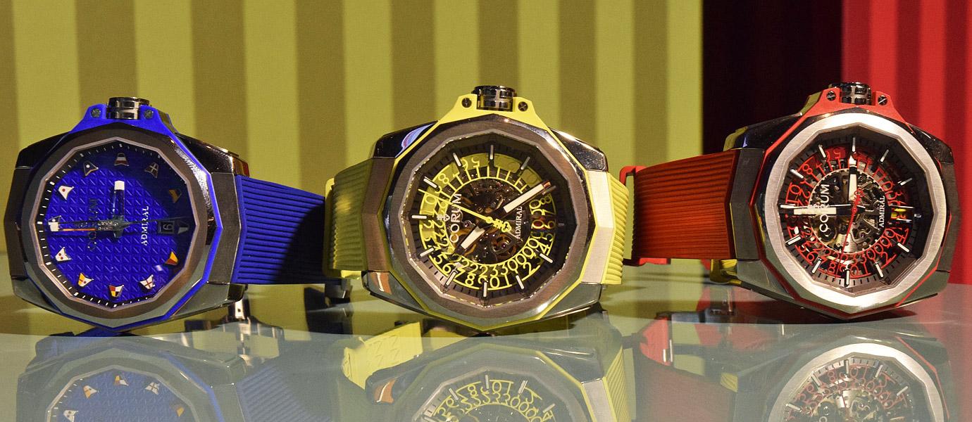 上將,您這樣好潮:Corum Admiral AC-ONE 45海軍上將彩色腕錶(Video)