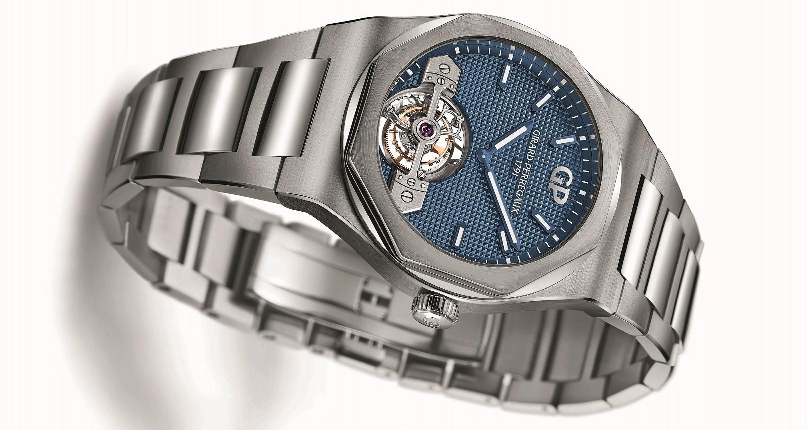 芝柏Laureato桂冠系列陀飛輪腕錶發表全鈦金屬款式