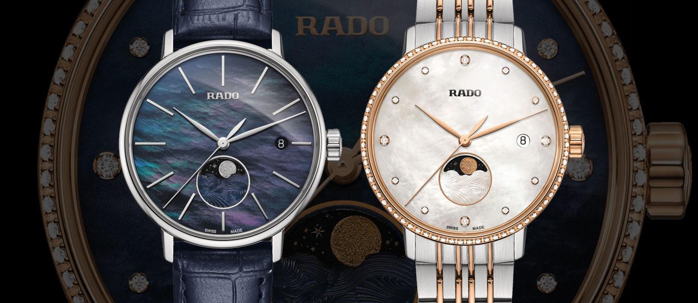 被珍珠母貝包圍的月亮:Rado COUPOLE Classic女仕月相腕錶