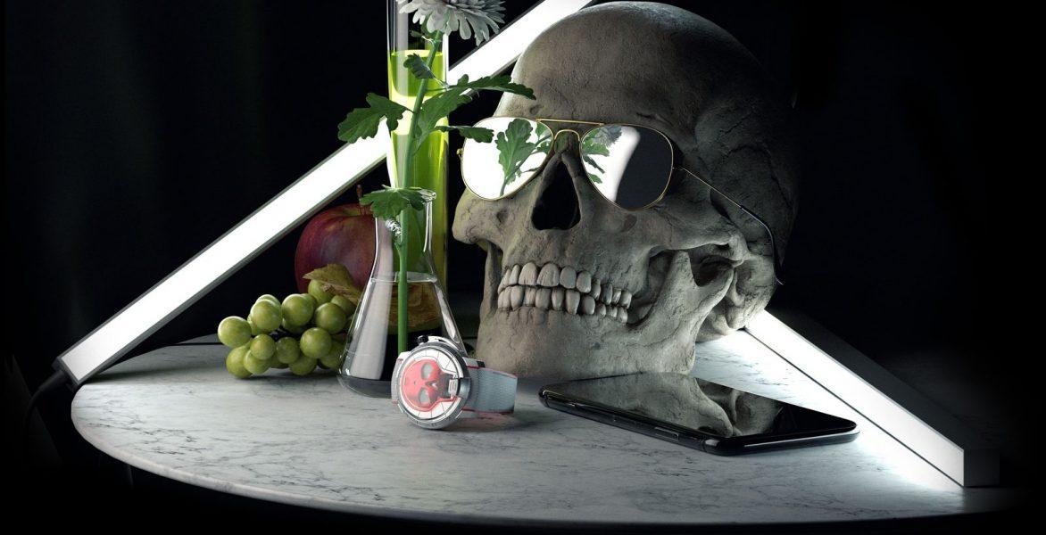 彩色液體骷髏:HYT Skull 48.8腕錶