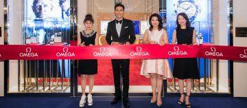 崔始源魅力站台:Omega台中大遠百名品店歡慶開幕(Video)