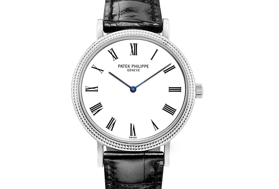 Calatrava Ref. 5120G-001,白金錶殼,錶徑35毫米,Caliber 240自動上鍊機芯。