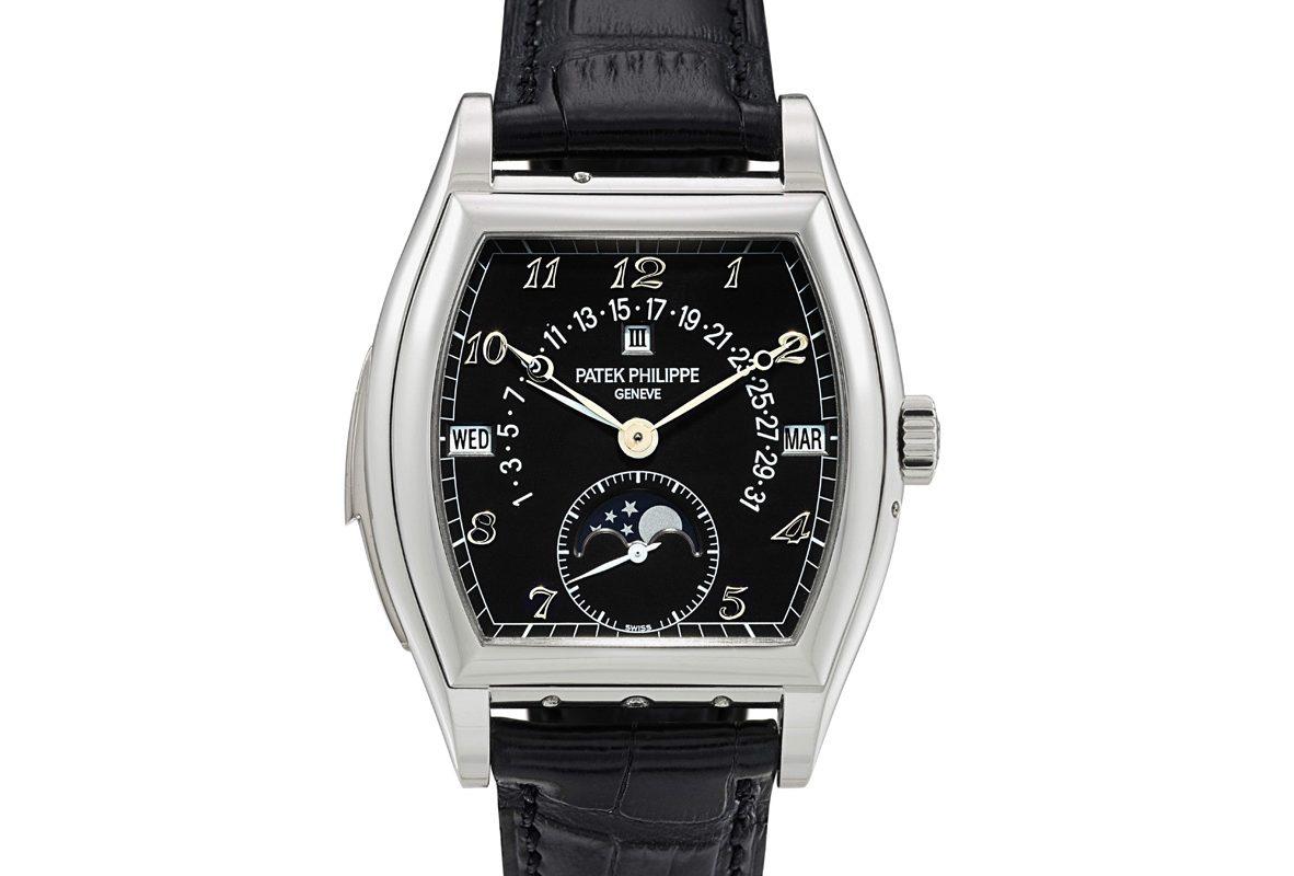 百達翡麗Ref. 5013非凡鉑金自動上鍊三問萬年曆腕錶,年份約2011年,估價為3,000,000-5,000,000港元。