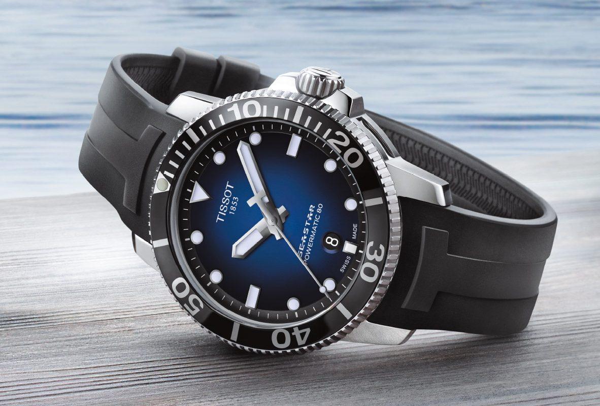 Tissot Seastar 1000潛水錶,參考價NTD 24,100。