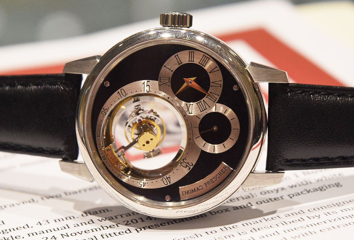 Thomas Prescher三軸陀飛輪腕錶。