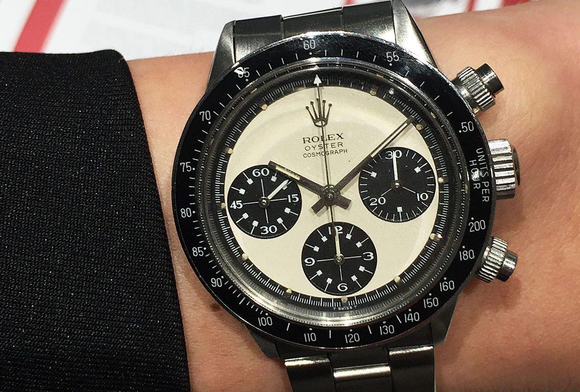 Rolex Daytona Ref. 6263 腕錶,搶眼的黑白配色宛如熊貓面,又以保羅紐曼面盤著稱。