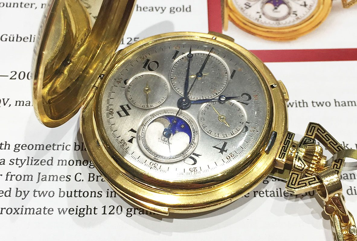 由美國已故企業大亨Chrysler所收藏的Audemars Piguet懷錶。