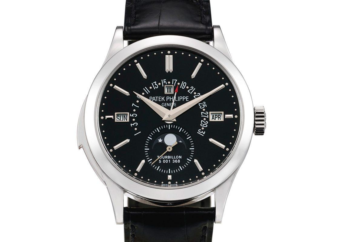 Patek Philippe 5216P-001腕錶,成交價為4,320,000港幣。