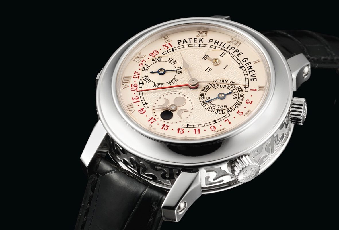 Patek Philippe Ref.5002P-001腕錶,成交價為9,720,000港幣。