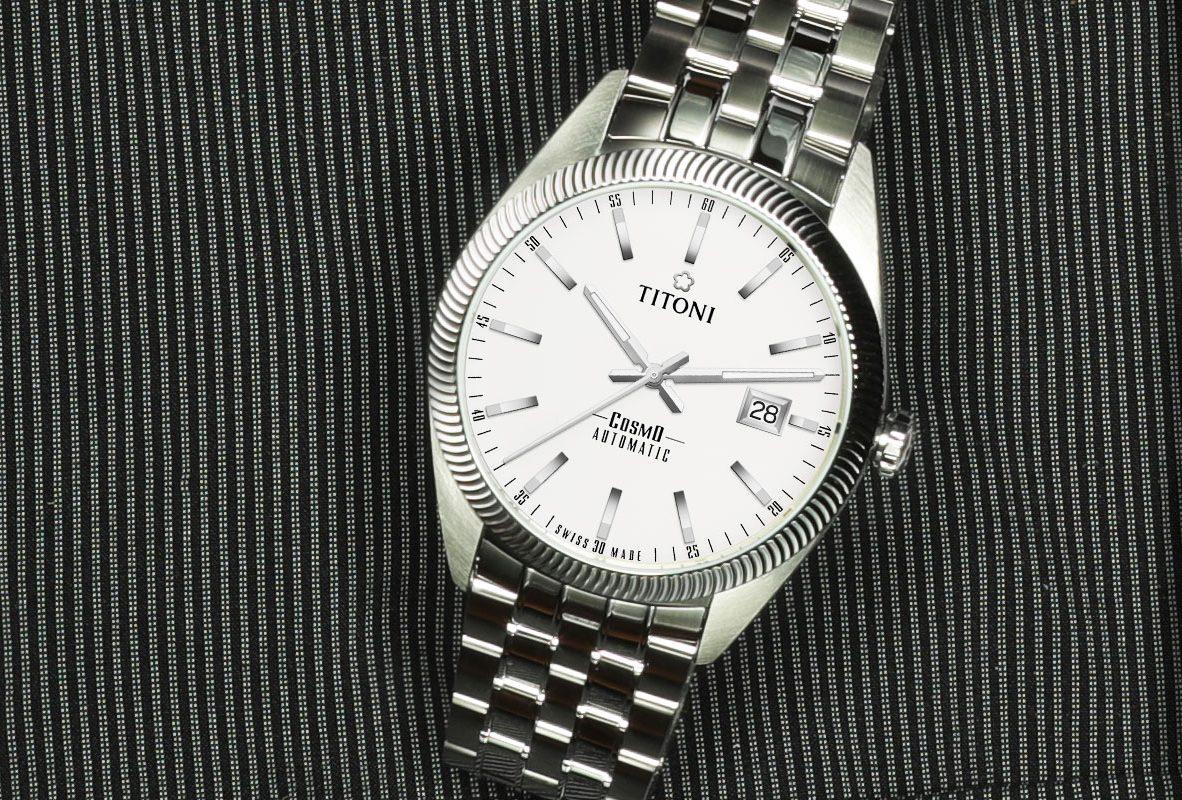 TITONI COSMO 878(白面鍊帶)